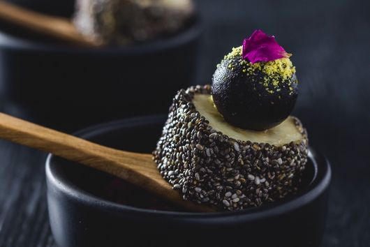 Banana Sushi with Cardamom & Rose Water Truffles