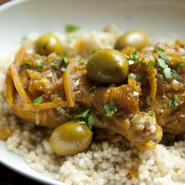 Braised Moroccan Chicken and Olives