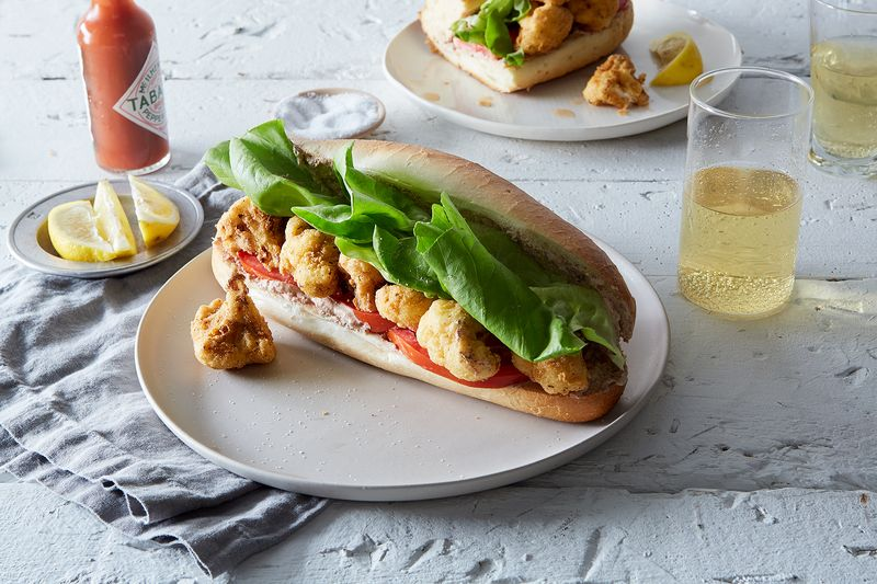 "Fried Cauliflower Po'Boys with Olive ""Remoulade"""