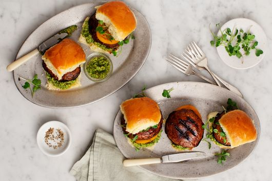 Portobello Sliders with Pepita Pesto