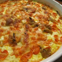 Curried Carrot Gratin with Melted Leek and Garlic