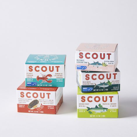 Scout Sustainably Harvested Canned Seafood