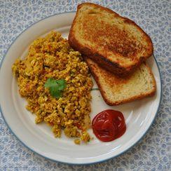 Masala Scrambled eggs - Egg bhurji