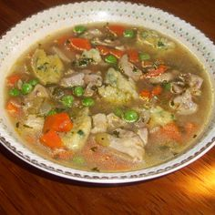 Ajngemahtec (Chicken soup with dumplings)