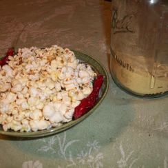 Cayenne Popcorn with Nutritional Yeast