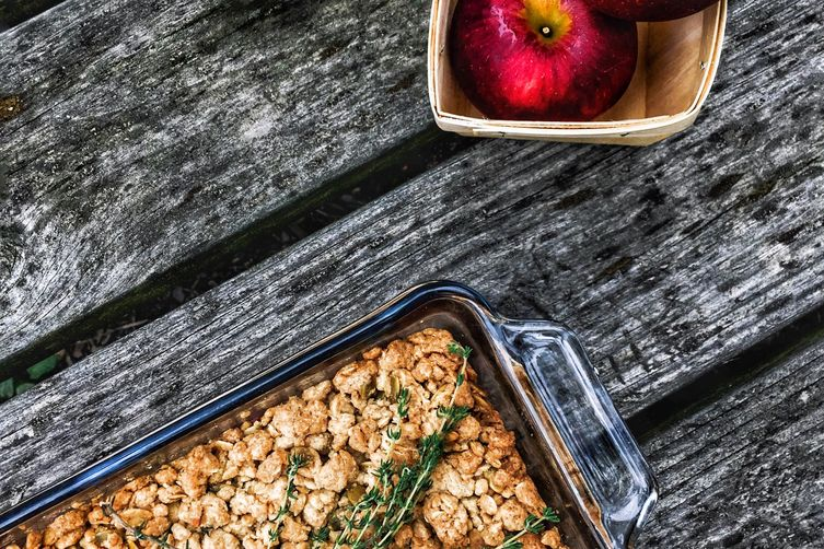 Pink Pearl Apple Crumble with Thyme & Pepitas
