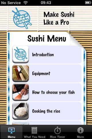 Teach Me Sushi Expert iPhone App