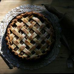 Spiced Pear, Gorgonzola, and Walnut Pie
