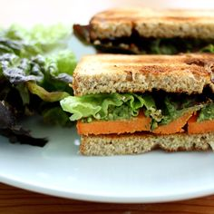 Sweet Potato and Pesto Salad Sandwich