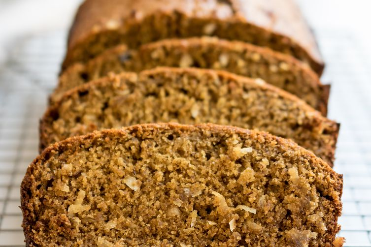 Whole Wheat Banana Bread with Toasted Coconut
