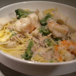 Seafood and Broccoli Pasta