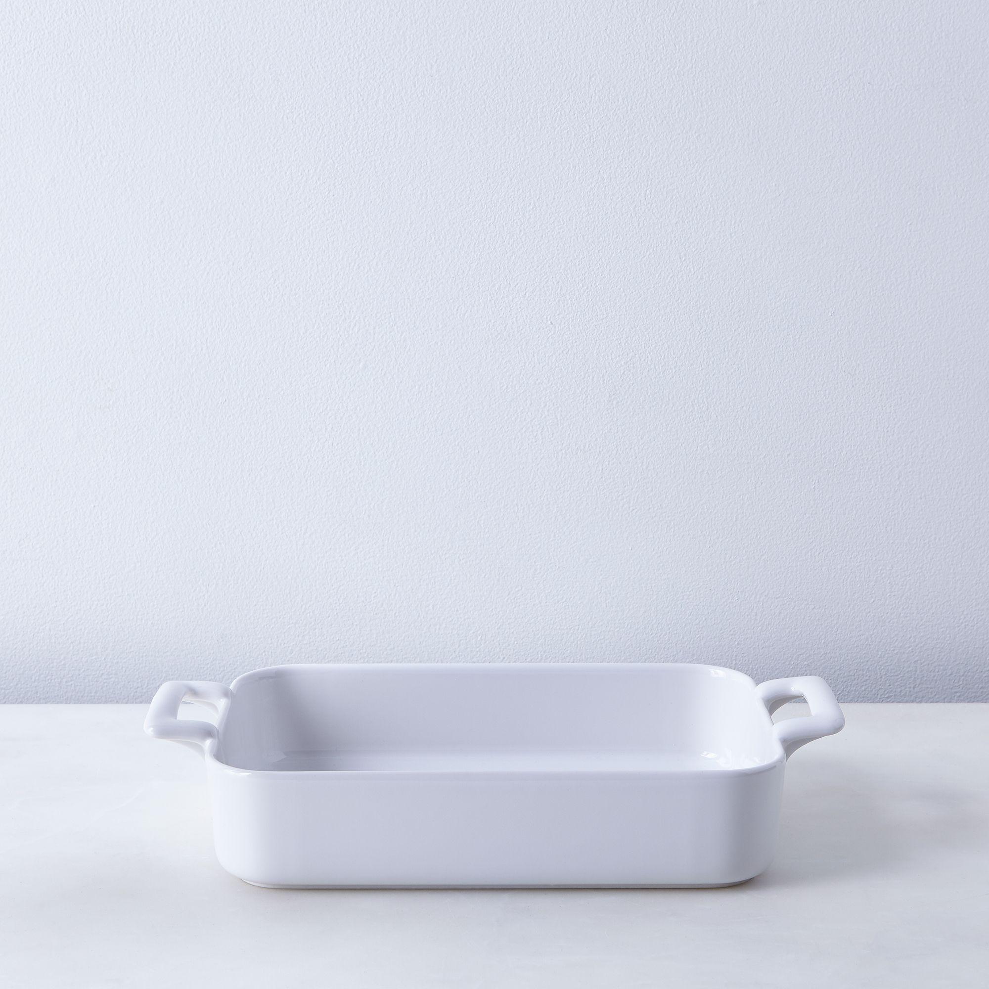Porcelain Rectangular Roasting Dishes 10.25 X 7.25, White