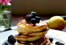 Lemon, Blueberry & Ricotta Pancakes