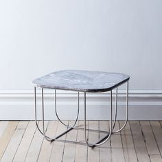 Grey Marble & Chrome Cage Table