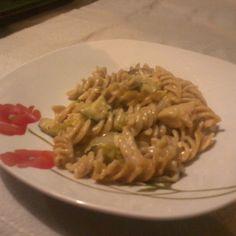 Honey mustard gratin spaghetti with zucchini and Napa cabbage