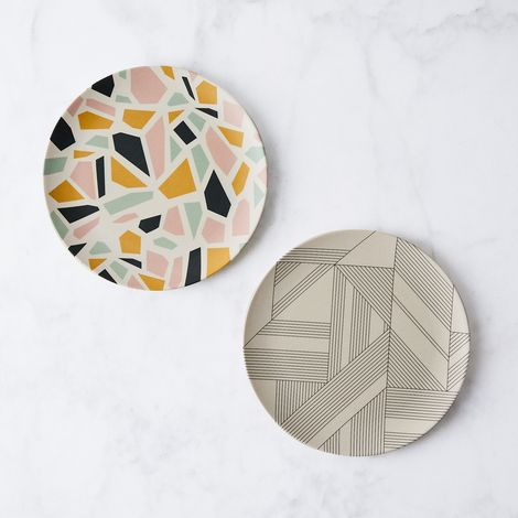 Graphic Bamboo Plates (Set of 4)