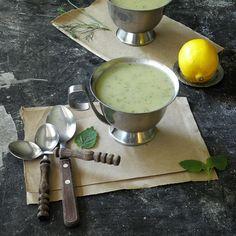 Lemon Balm Zucchini soup
