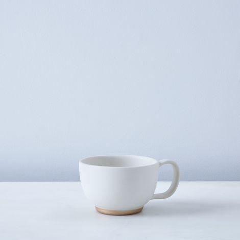 Ivory & Rose Gold Porcelain Cocoa Mug