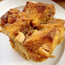Pumpkin White Chocolate Bread Pudding