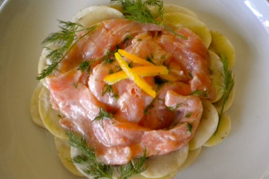 Salmon and Mushroom Ceviche