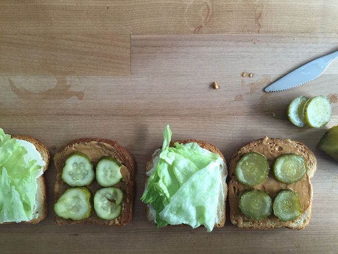 PB+pickle sandwich
