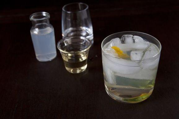 Lemon, Ginger, Basil Cooler