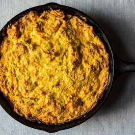 Corn pudding by Gustave