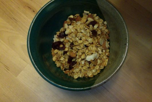 Coconut, Almond, and Dried Cranberry Granola
