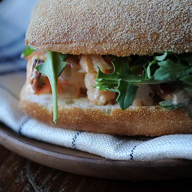 Shrimp and Chorizo Sandwich