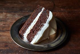 136eaff5 5f20 4b67 81c8 af9052f09cd0  damp dark molasses gingerbread cooked cream cheese frosting cake food52 mark weinberg 14 11 21 0669