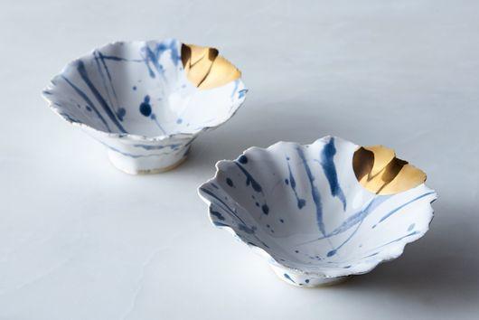 Handmade Splatter Pinch Bowls
