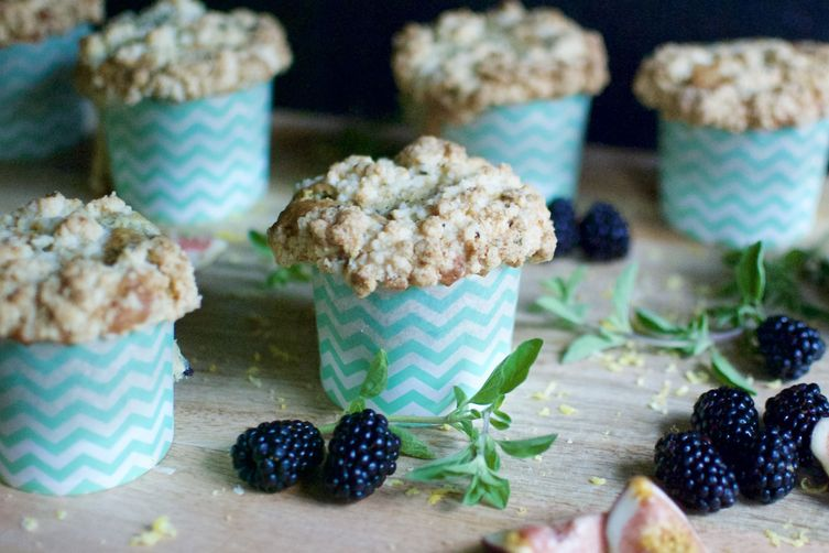 Blackberry, Lemon & Thyme Muffins