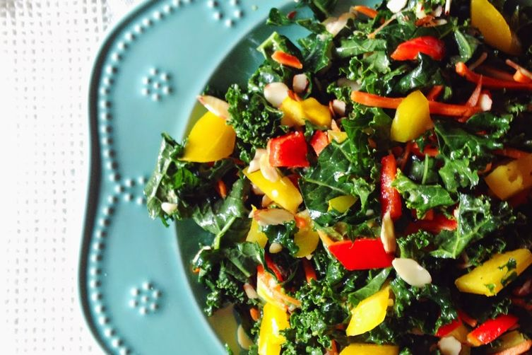 Jamaican Curry Kale Salad