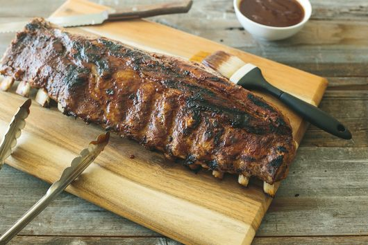 Barbecue Ribs with Spiced Rum Pineapple Sauce