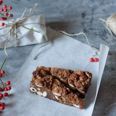 A Christmas Cake That's About 80% Nuts & Candied Fruit