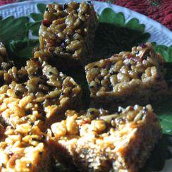 Maple Almond Butter Krisped Rice Treats