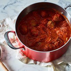 Grandma's Sicilian Meatballs in a Spicy Tomato Sauce