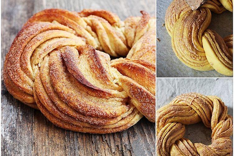Estonian Kringel - Braided Cinnamon Bread