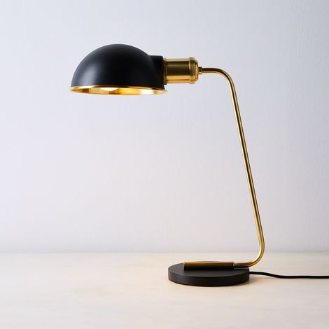Brass & Steel Desk Lamp