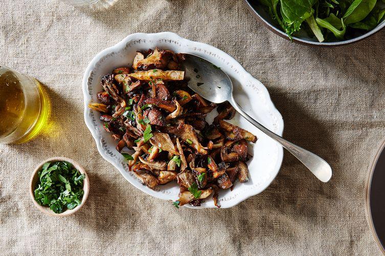 Roasted Mushroom Salad Recipe on Food52