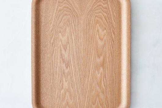 Nonslip Rectangular Wood Tray