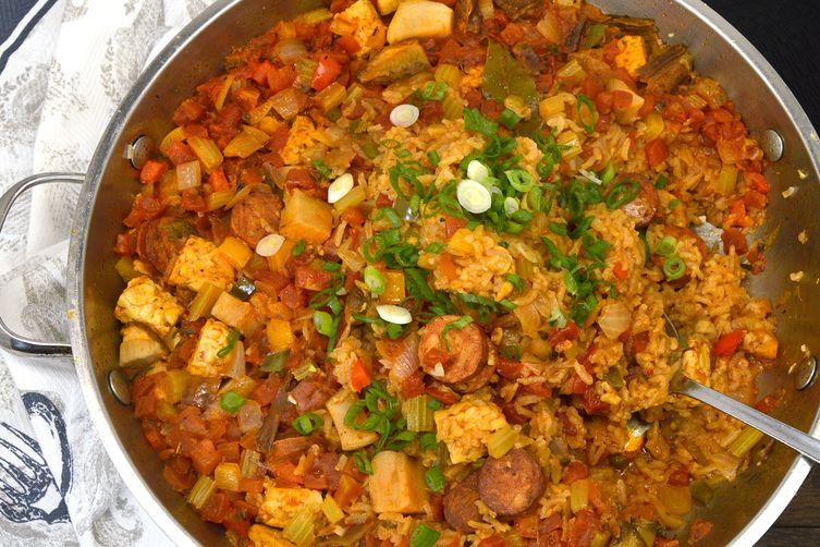 One Pot Spicy Vegan Jambalaya
