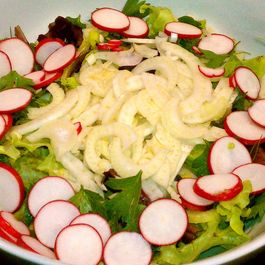 Radish Herb Salad with Tarragon Vinaigrette Dressing