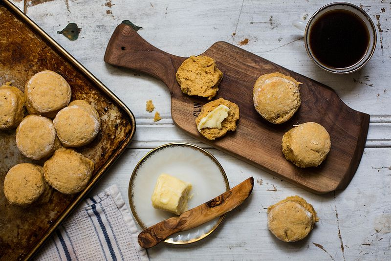 Honey Pumpkin Biscuits from Food52