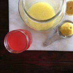 Rhubarb-Rose Lemonade