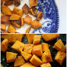 Purple Kale, Roast Pumpkin and Dukkah Almond Salad