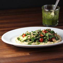 Kale Salad with Chimichurri and Hummus