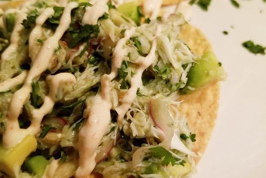 Crab and Avocado Tostadas