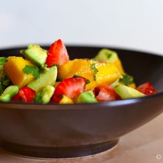 Avocado, Strawberry, and Mango Salad