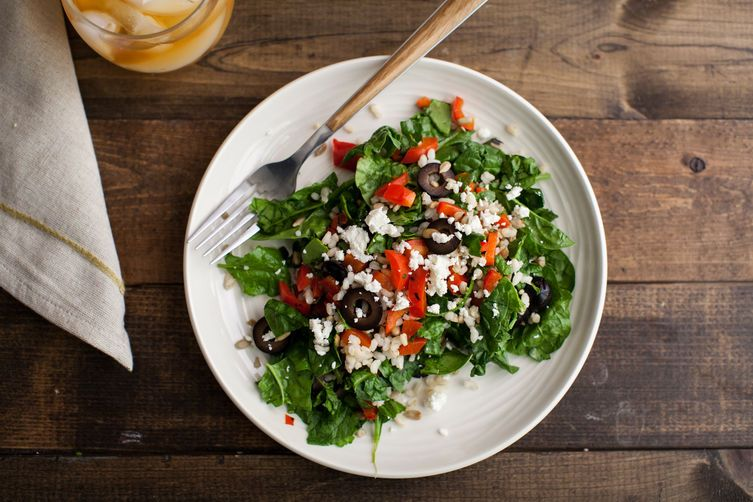 Brown Rice Spinach Salad